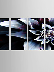 Giclee Print Floral/Botanical Modern Classic,Four Panels Canvas Vertical Print Wall Decor For Home Decoration