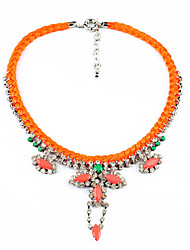 Women's Strands Necklaces Crystal Chrome Unique Design Euramerican Fashion Personalized Orange Jewelry For Wedding Party Congratulations