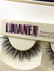 1Pair New Real Mink Natural Long Black False Eyelashes Fake Eye Lashes Makeup Extension Tools