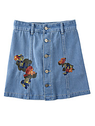 Women's Casual/Daily Mini Skirts A Line Floral Summer