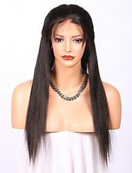 Br /> 100% естественный прямой человеческий волос glueless полный парик шнурка 100% мягкие бразильские человеческие виргинские волосы с