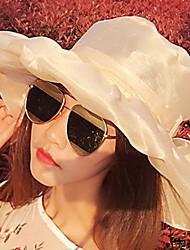 Для женщин Винтаж Очаровательный Для вечеринки Для офиса На каждый день Котелок / клош Широкополая шляпа Соломенная шляпа Шляпа от солнца,