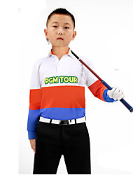 Kid's Long Sleeve Golf Bandana Tops Breathable Sweat-wicking Comfortable Golf Leisure Sports
