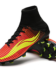Soccer Cleats Football Boots Men'sAnti-Slip Anti-Shake/Damping Cushioning Ventilation Impact Wearproof Waterproof Breathable Height