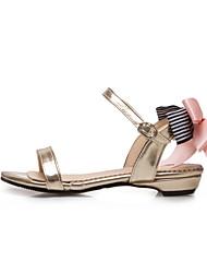Damen-Sandalen-Kleid Lässig-Kunstleder-Blockabsatz-Komfort-