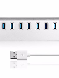 Usb 3.0 7 portas / interface usb hub aluminium