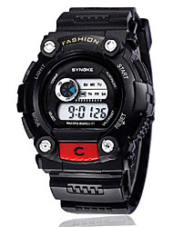 Men's Fashion Watch Digital Watch Digital Silicone Band Black Red