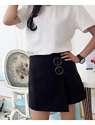Mujer Casual/Diario Mini Faldas,Línea A Verano Un Color