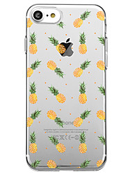 Pour iPhone X iPhone 8 Etuis coque Transparente Motif Coque Arrière Coque Fruit Flexible PUT pour Apple iPhone X iPhone 8 Plus iPhone 8