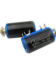 Wxd3-13 33k ohm 2w 4 pines rotatorio giratorio de 10 hilos potenciómetro 2 piezas