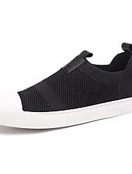 Herren Flache Schuhe Komfort Tüll Frühling Lässig Weiß Schwarz Flach