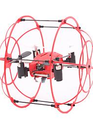 Drone M66 4 canaux 6 Axes - Eclairage LED Vol Rotatif De 360 Degrés FlotterQuadri rotor RC Télécommande 1 Station de Recharge 1 Câble USB