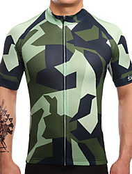 Cycling Jersey Men's Short Sleeve Bike Jersey Quick Dry Breathable Sweat-wicking Coolmax LYCRA® Classic Summer