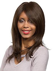 New Style Enchanting Medium Long Brown Hair Synthetic Wig