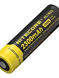 2pcs nitecore nl1823 2300mAh 3.7v 8.5wh 18650 литий-ионный аккумулятор