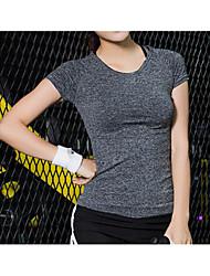 Mulheres Camiseta Correr Fitness, Corrida e Yoga Verão