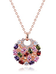 Жен. Ожерелья с подвесками Бижутерия Круглой формы Бижутерия Циркон Сплав Уникальный дизайн Euramerican бижутерия Мода Бижутерия