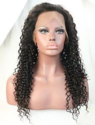 Peruca dianteira do laço do cabelo humano / peruca cheia do laço para mulheres pretas com cabelo da ilusão