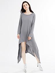 Women's Off The Shoulder Asymmetric Hemline Long Sleeve Oversize Sweater
