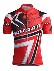 Fastcute Cycling Jersey Men's Short Sleeves Bike Jersey Tops Quick Dry Breathable Sweat-wicking Coolmax Classic Spring Summer Fall/Autumn