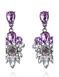 Women's Drop Earrings Fashion Euramerican Luxury Costume Jewelry Acrylic Alloy Flower Drop Jewelry For Party