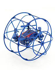 HY370 Blue Drone 4CH 6 Axis - LED Lighting Failsafe HoverRC Quadcopter Remote Controller/Transmmitter USB Cable User