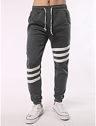 Homme Street Chic Taille Normale Extensible Jogger Joggings Pantalon,Large Slim Bandes Blocs de Couleur