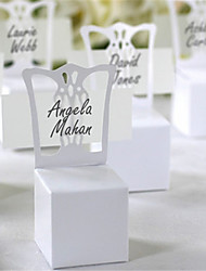 50PCS Chair Place Card Holder and Favor Box best for candy boxes and wedding favors boxevent party supplies