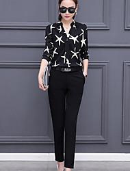 Damen Shirt Hose Anzüge,Rundhalsausschnitt Sommer