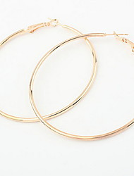 Women's Big Hoop Earrings Big Euramerican Delicate Exaggeration  Alloy Bohemian Party And Daily Gold And Silver  Statement Jewelry