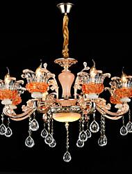 Lampe suspendue Alliage de Zinc Fonctionnalité for Cristal Style mini Métal Salle à manger Intérieur Couloir 8 Ampoules