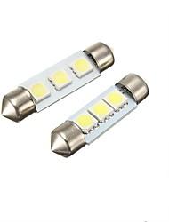 2w 36mm festoon 3led smd5050 dc12v targa targa interna luci principali led lampada principale 2pcs
