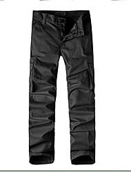Masculino Simples Cintura Média Micro-Elástica Chinos Calças,Solto