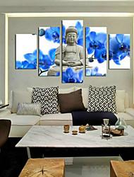 Estampados de Arte Retratos Abstratos Tradicional,5 Painéis Horizontal Impressão artística Decoração de Parede For Decoração para casa