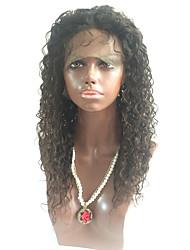 Venda quente 150% de densidade de peruca de renda encaracolado cheia de cabelo preto brasileiro de cabelo cheio de cabelo cheio com cabelo