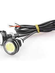 1.5w dc12v cob blanc bleu auto 23mm eagle eye lampe ultra-mince déflecteur de vis à contre-jour lampe super imperméable 1pair
