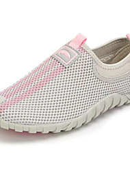 Women's Loafers & Slip-Ons PU Spring Summer Low Heel Gray Ruby Under 1in