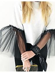 Damen Solide Punk & Gothic Normal T-shirt,Rundhalsausschnitt Kurzarm Baumwolle