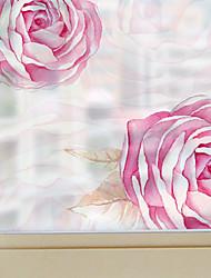 A fleurs Contemporain Autocollant de Fenêtre,PVC/Vinyl Matériel Décoration de fenêtre