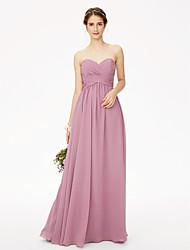 2017 LAN TING BRIDE Floor-length Sweetheart Bridesmaid Dress - Open Back Sleeveless Chiffon