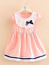 Bow Patchwork Children's Princess Dress Children's Wear Clothes Summer 2017 Girls' Baby Sleeveless Vest Dress Skirt Gift