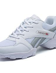 Men's Athletic Shoes PU Spring Summer Low Heel White Black Under 1in