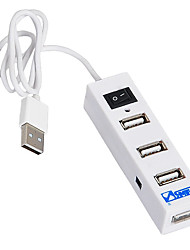 SANBAO SH-401R 4-Port USB2.0 HUB High-Speed with Switch 60CM Cable