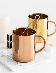 Indoor Casual/Daily Casual/Daily Drinkware, 400 Coppery Stainless Coffee MilkNovelty Drinkware Tea Cup Water Bottle Coffee Mug Travel