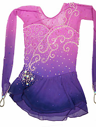 Robe de Patinage Patinage Jupes Robes Haute élasticité Robe de patinage artistique Fait à la main Spandex Tenue de Patinage