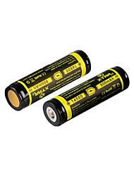 2pcs Xtar bateria recarregável 3.7v 2.96wh li-ião 14500 800mAh