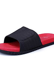 Masculino Chinelos e flip-flops PVC Verão Rasteiro Vermelho Rasteiro