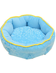 Cat Dog Bed Pet Baskets Solid Cartoon Keep Warm Soft Blue Ruby