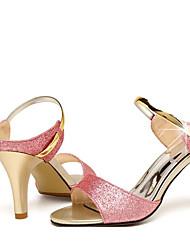 Damen High Heels Komfort Pumps PU Frühling Sommer Normal Komfort Pumps Gold Purpur 5 - 7 cm