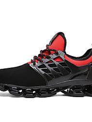 Для мужчин Спортивная обувь Беговая обувь Оригинальная обувь Ткань Лето Осень Черный Красный Зеленый На плоской подошве